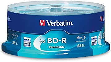 Verbatim BD-R 25GB 6X Blu-ray Recordable Media Disc - 25 Pack Sp