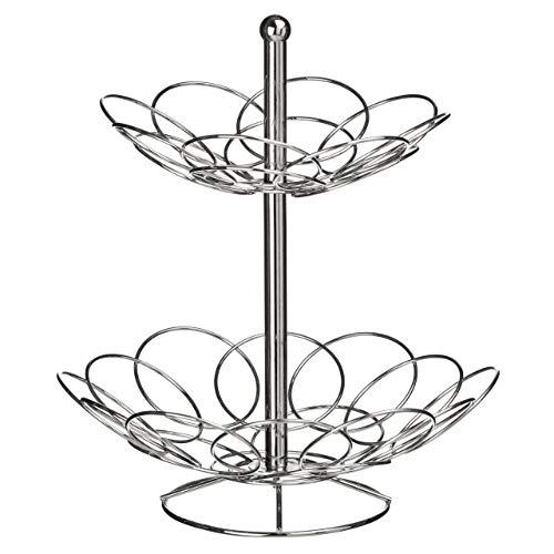 Premier Housewares Ellipse 2-Tier Fruit Basket - Chrome