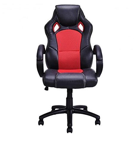 41nbR7utP%2BL - MD-Group-Gaming-Chair-High-Back-Race-Car-Style-Bucket-Seat-Red-Adjustable-Height-Swivel