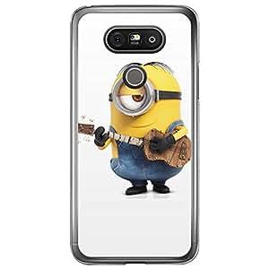 Loud Universe LG G5 Files Minion 38 Printed Transparent Edge Case - Multi Color