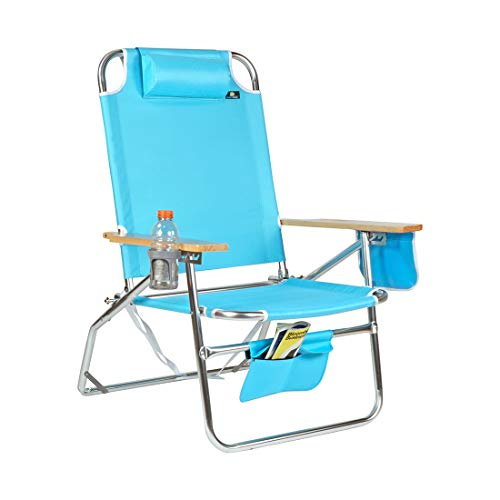 Big Jumbo 500 lbs XL Aluminum Heavy Duty Beach Chair for Big & Tall - 4 Reclining Positions