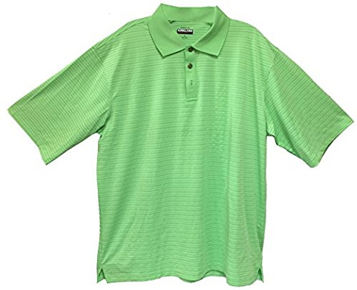 Kirkland Signature Mens Stripe Performance Polo L, Green