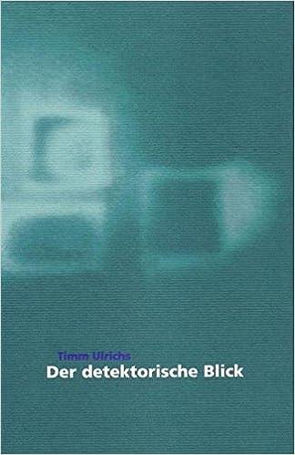 Timm Ulrichs Der Detektorische Blick Livre En Allemand