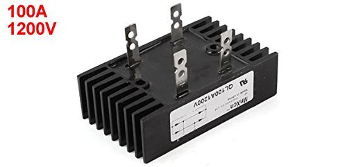 eDealMax a14031700ux0525 4 broches 1 pont redresseur Phase diode QL100 Type, 100 Amp, 1200V