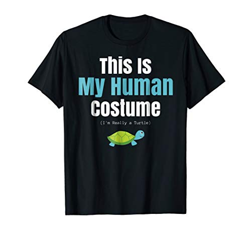 Funny Turtle Halloween T Shirt for Human Costume Parties -