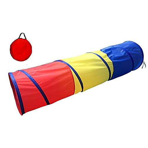 - SGQCAR Sunny Days Entertainment 6 Foot Adventure Play Tunnel Tent Rainbow Pop Up Play Tunnel Tube for Children Indoor and Outdoor Games