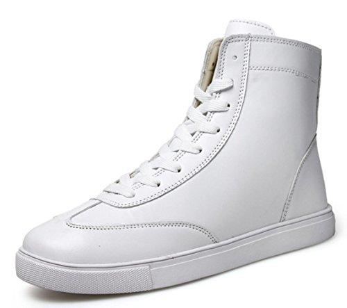 CSDM Uomo Stivali britannici scarponi Stivali Martin Sport Tempo libero Studenti Outdoor Scarpe Casual , white , 39