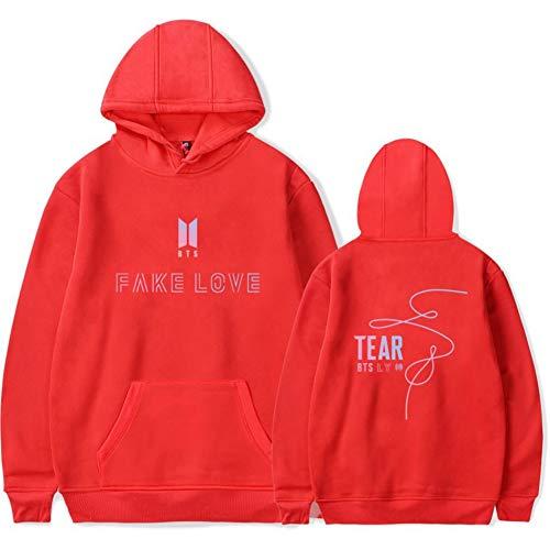 Kpop BTS Bangtan Boys Love Yourself Tear Hoodie Suga Jimin V Rap-Monster Jung Kook Sweater Jacket velvet Pullover - Color Mark