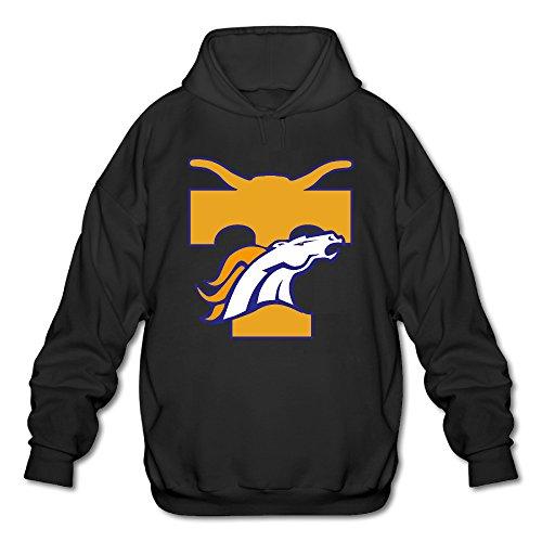 Hotboy19 Men's Long Sleeve Hoodie Tennessee Denver Sport Logo Mixed Black Size - Airport Logo Denver