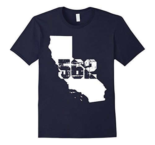 Men's Long Beach California 562 Area Code T-Shirt 3XL Navy