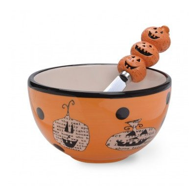 Boston International Pumpkin Bowl and Spreader Set