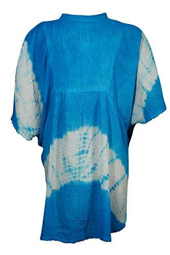 Interior 3 Blau Mogul himmelblau Tunika Damen Kleid Blue ZpSAwdx