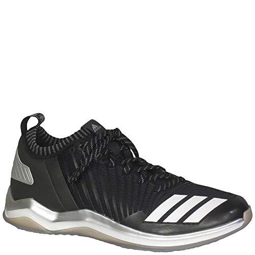 adidas Men's Icon Trainer Baseball Shoe, Black/White/Onix, 10 Medium US
