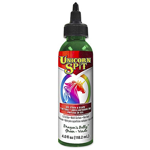 Unicorn SPiT 5770007 Gel Stain and Glaze, Dragon's Belly 4.0 FL OZ Bottle, Green (Dragon Belly)