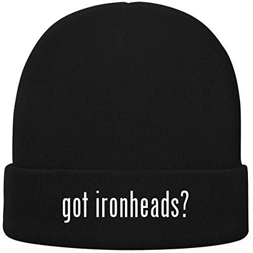 One Legging it Around got Ironheads? - Soft Adult Beanie Cap, Black (Ironhead Cam)