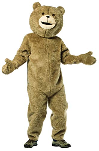 Rasta Imposta Teddy Bear Costume Funny Plush Fur Adult Mens Womens One Size Brown (Teddy Bear Costume Mens)