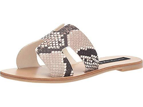 STEVEN by Steve Madden Women's Greece Sandal, White/Black, 6 M US