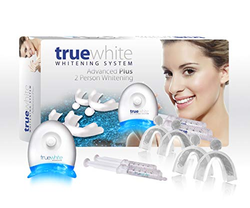 truewhite Advanced Plus Teeth Whitening System for 2 Person - Made in USA - No Sensitivity - Easy to Use Perfect Professional Teeth Whitening Kit - FDA Registered