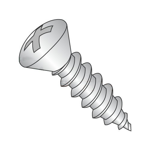 "#6 x 3/4"" Type AB Self-Tapping Screws/Phillips/Oval Head / 18-8 Stainless Steel (Carton: 5,000 pcs) 41nbV1ggVnL"