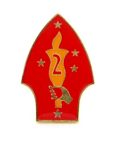 US Marine Corps USMC 2nd Marines Division Lapel Hat Pin Military ()