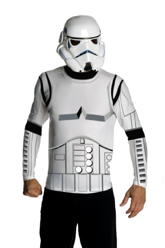 Cheap Star Wars Costumes (Star Wars Adult Stormtrooper Costume Kit, White, Large)