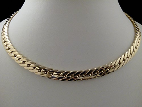 femme or jaune 18k maille anglaise 45cm