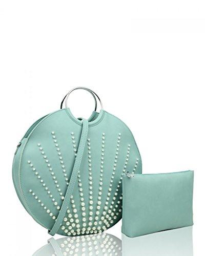 Pearl Handbag Quality White IN Cream Handle Bags LeahWard 1 Women's Top 2 846 wgT7qxXp
