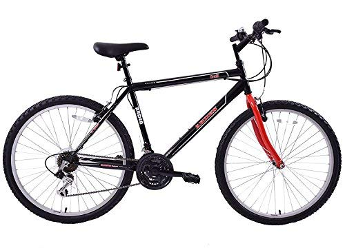 CHEAPEST MENS MOUNTAINEER 26' WHEEL MOUNTAIN BIKE 21 SPEED BLACK/RED