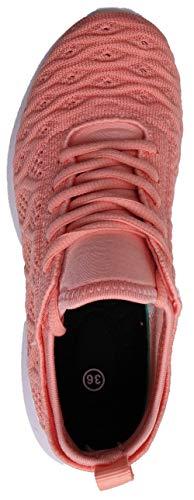 Damen Atmungsaktiv Weiß 43 Turnschuhe EU Schwarz Sportschuhe Rot SEECEE Rosa Rosa 36 Sneaker 2 S5qndgAH