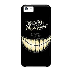 Awesome Design Alice In Wonderland We Are All Mad Here Hard Case Cover For Iphone 5c