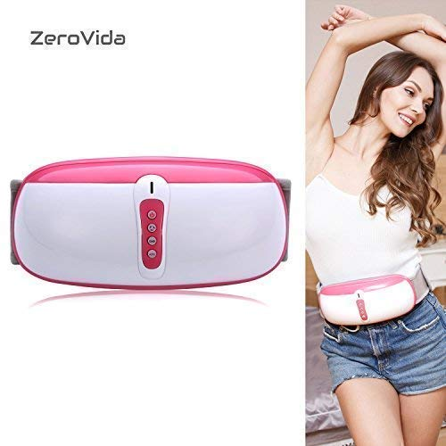 ZEROVIDA Slimming Belt Electric Fitness Vibrating 4modes Massager for Weight Loss Slimming Massage Belt Fitness for Women and Men