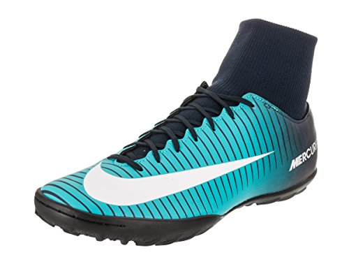 NIKE Men's MercurialX Victory VI DF TF Obsidian/White/Gamma/Blue Turf Soccer Shoe 9 Men US