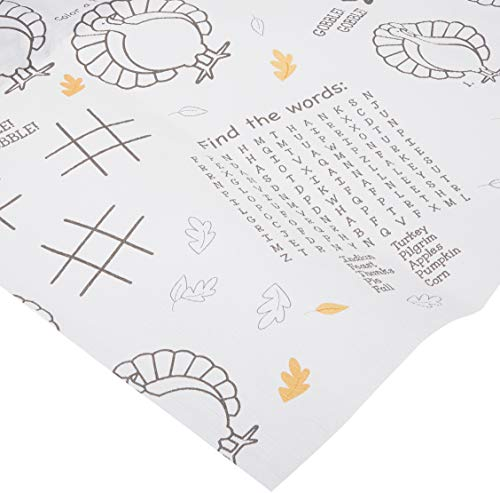 Creative Converting Thanksgiving Kids Activity Paper Tablecover, 54 x 88