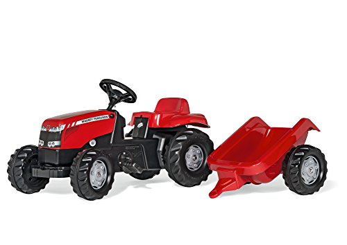 - Massey Ferguson Kid Tractor with Trailer