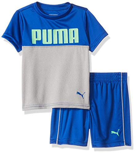 PUMA Baby Boys' T-Shirt & Short Set, Surf The Web 12 Months