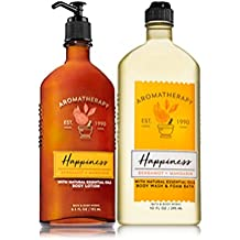 Bath & Body Works HAPPINESS - Bergamot & Mandarin Body Wash & Foam Bath and Lotion Set