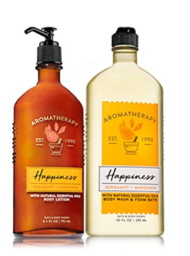 Mandarin Foam (Bath & Body Works HAPPINESS - Bergamot & Mandarin Body Wash & Foam Bath and Lotion Set)