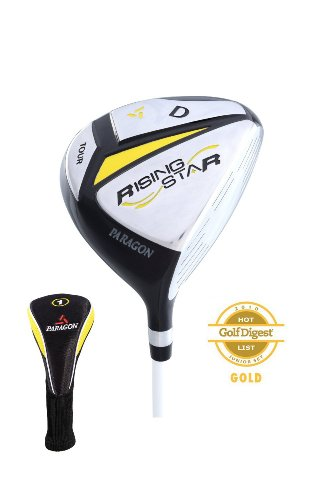 Paragon Rising Star Kids Junior Driver Ages 5-7 Yellow/Right-Hand (Junior Golf Driver)