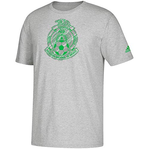 - adidas Performance Men's MLS World Cup Soccer BAR None TEE (Large, Mexico Grey Green)