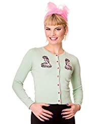 Hell Bunny 50's Nancy Flamingo Vintage Style Cardigan Top