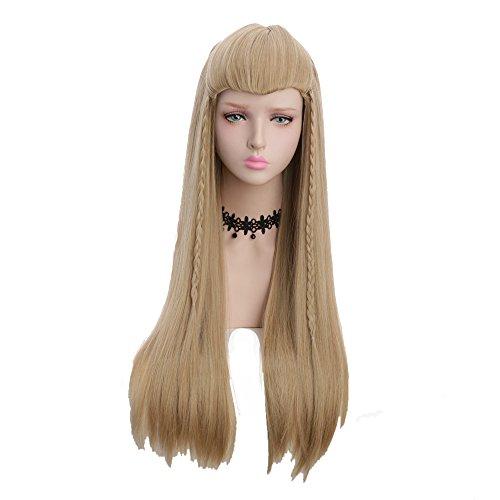 Yuehong Long Straight Men Wig Ash Blond Movie Cosplay Wig Unisex ()