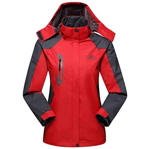 YFoth Winter kalte Winterjacke im Freien Sport warme Skibergsteigen Winddichte Jacke (Farbe   A, größe   L)