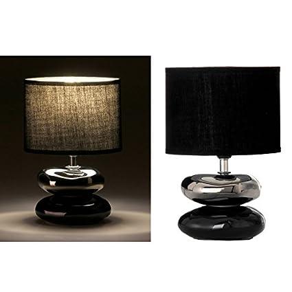 dcasa - Lámpara para mesita de noche oriental negra de cerámica para dormitorio Arabia