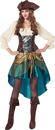 Sportsgear US Women's Halloween Wench Bookweek Fancy Dress Party Deluxe Pirate Princess Outfit