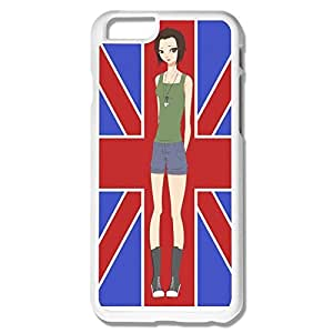 Keke Customized Cool Case Girl And Flag For IPhone 6 (4.7 Inch)