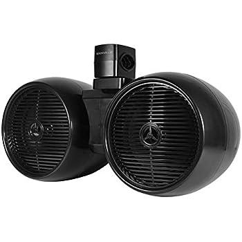 """Rockville DWB80S Dual 8/"""" Silver 800 Watt Marine Wakeboard Tower Speaker System"""