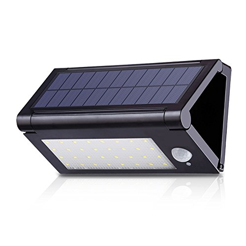 Outdoor Solar Motion Lights 32 LED Foldable Waterproof Exterior Solar Powered Motion Sensor Security Lights 640 Lumens Wireless Wall Lights for Diveway Patio Garden Deck Path Step Porch Two Light Path Fixture