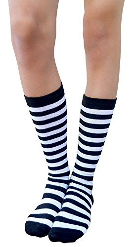 AM Landen Black with White Stripe Women's Casual