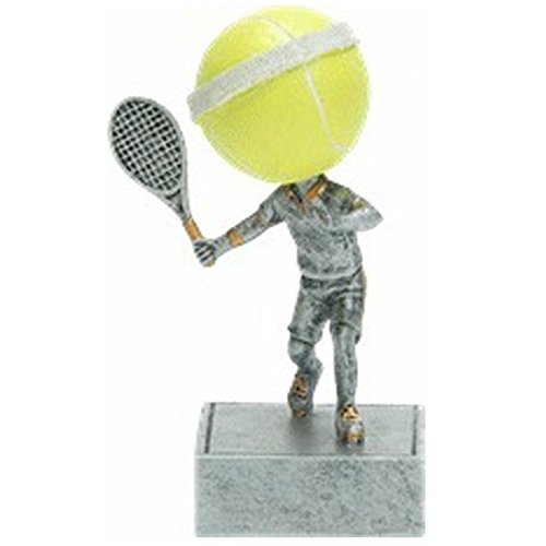 (Decade Awards Tennis Bobblehead Trophy | Fast Serve Award | 5.5 Inch Tall - Customize Now)