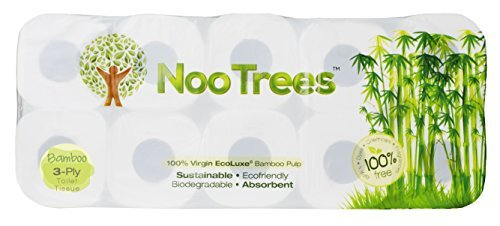 NooTrees Bamboo 3-Ply Bathroom Tissue, 220 Sheets, 40 Count